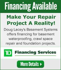 We offer Financing for Basement Repair in Southern Alberta